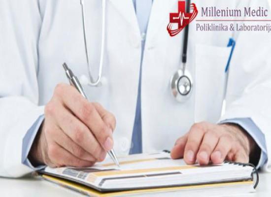Pregled lekara opšte prakse + bris grla i nosa + analiza krvne slike + analiza na prisustvo kandide!